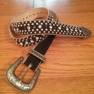 Guess, rhinestone studded belt.